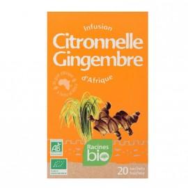 Infusion d'Afrique BIO, saveurs citronnelle gingembre