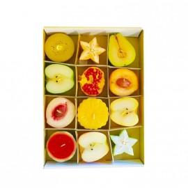 Boîte de 12 bougies Fruits