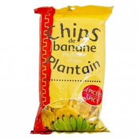 """Chips de banane """"plantain"""" pimentées 70g DLUO courte 30/07/2020"""