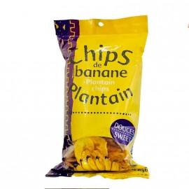 """Chips de banane """"plantain"""" douces 70g DLUO courte 30/07/2020"""