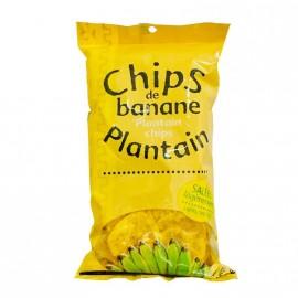 """Chips de banane """"plantain"""" salées 70g DLUO courte 30/07/2020"""