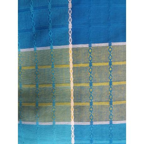 """Nappe ronde """"comptoir de la plage"""" 180cm, bleu"""