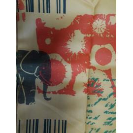 Nappe Polyester antitache 200*148 decor animaux FIN DE SERIE