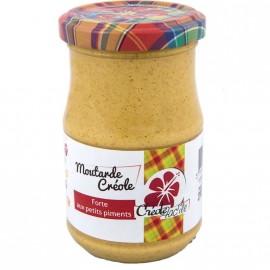 """Moutarde forte aux petits piments """"Créole Fac'île"""" DLUO courte 10/10/2020"""
