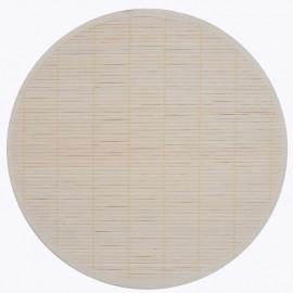 Set de table bambou, uni, par 2, ovale 30*45 cm, blanc