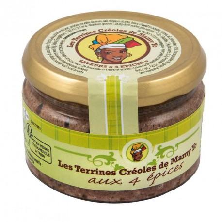 """Terrine aux 4 épices """" MAMY YO """" 180 g"""