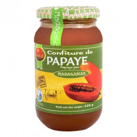 "Confiture papaye ""Codal"" Madagascar 330grs"