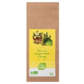 Infusion des îles BIO, thé vert, gingembre, citron