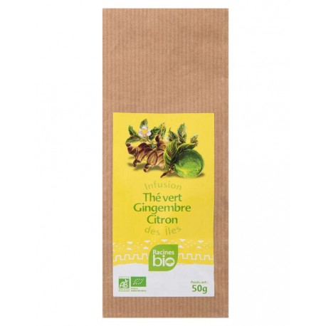 Infusion des îles BIO thé vert gingembre citron