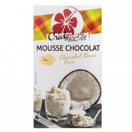 """Mousse Chocolat blanc """"Créole Fac'île"""""""