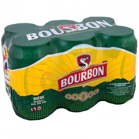 Biere Bourbon cannette 33cl pack de 6