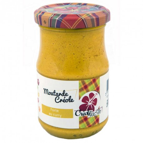 "Moutarde forte au curry ""Créole Fac'île"" 200g"