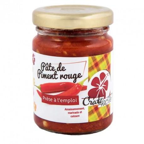 """Pâte de piment rouge """"Créole Fac'île"""" 90 grs"""