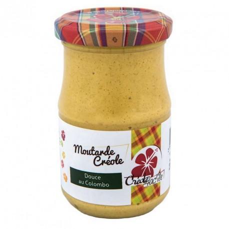 """Moutarde douce au parfum colombo""""Créole Fac'île"""" 200g"""