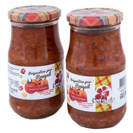 """Lot de 2 sauces rougail """"Créole fac'île"""" 680g"""