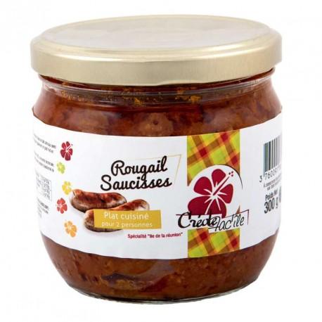 """Rougail Saucisses """"Creole Fac'île"""" Bocal de 300g"""