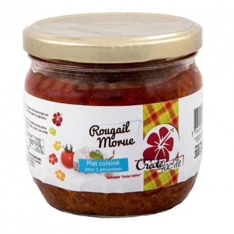 """Rougail de Morue """"Créole Fac'île"""" Bocal de 300 g"""