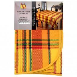 Nappe Madras Polysester jaune antitache 300*148