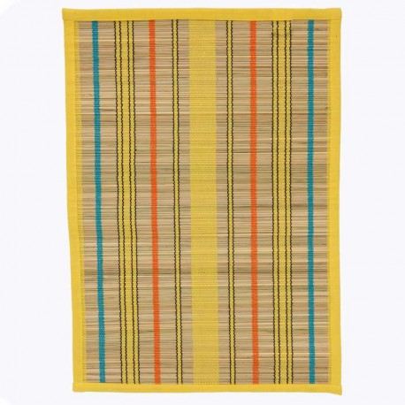 """Set de Table """"paille"""" la pièce, jaune, bleu ou orange 33*48 cm"""