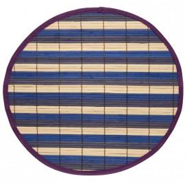 Set de table Tricolore, par 2, rond diam 40 cm coloris au choix