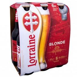 """bière """"Lorraine"""" bouteille 33CL pack de 6"""