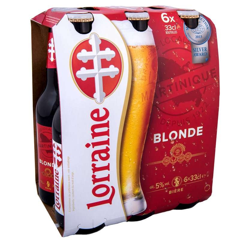 Très biere Lorraine bouteille 33CL pack de 6 BB06